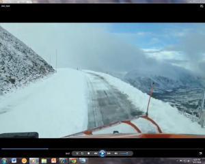Snowplowing Trail Ridge Road Near Highpoint October 1, 2014 Courtesy RMNP