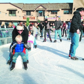 Outdoor ice skating rinks provide winter recreation, fun