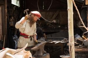 WARD, COLO.- Derik at work smithing. (Photo Credit: NG Studios/Mary Way)