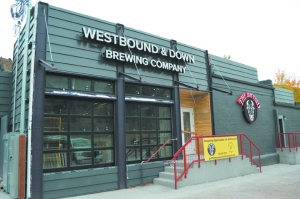New signs on the back of the Westbound & Down Brewing Company and The Buffalo