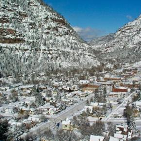 Winter in Ouray means ice, snow,steam