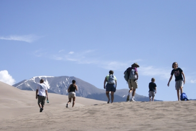 Hiking the great sand dunes in South Central Colorado