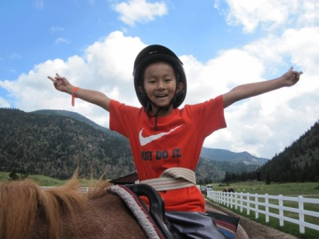 horseback riding camp photo
