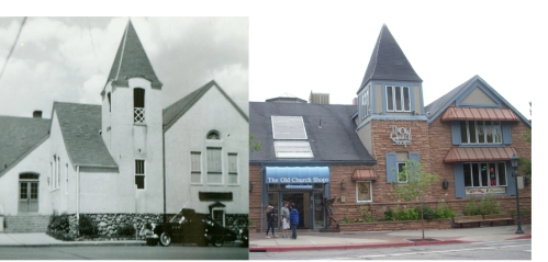 Old Church Shops then and now